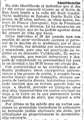 Benito Bailo, de oficio sastre