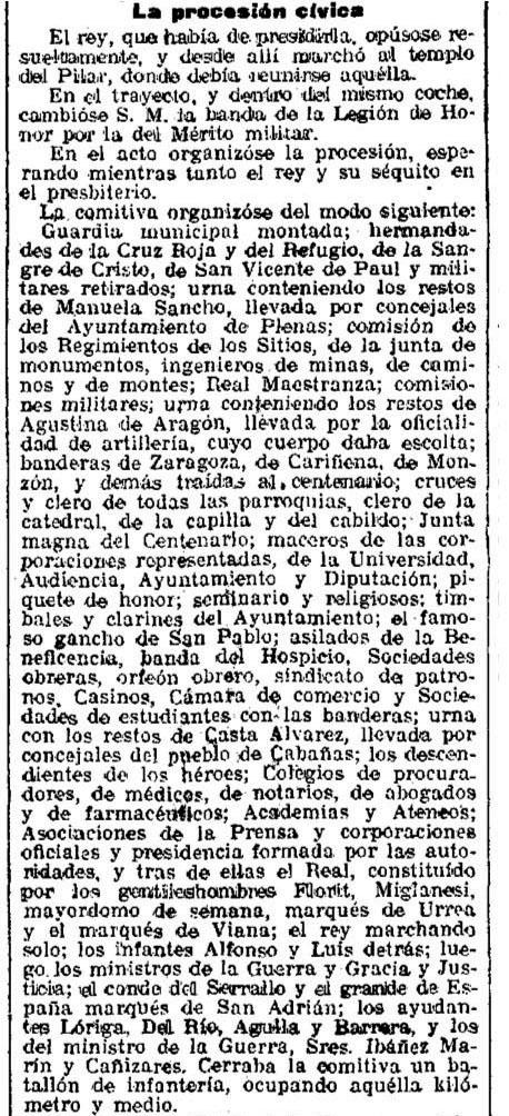 Manuela Sancho y el Centenario de los Sitios de Zaragoza (1)