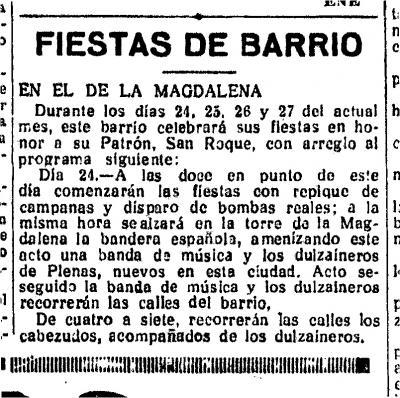 Los gaiteros de Plenas en las fiestas de la Magdalena de Zaragoza (1)